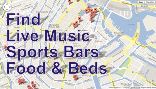 Find Music Venues, Sports Bars, Food and Beds.